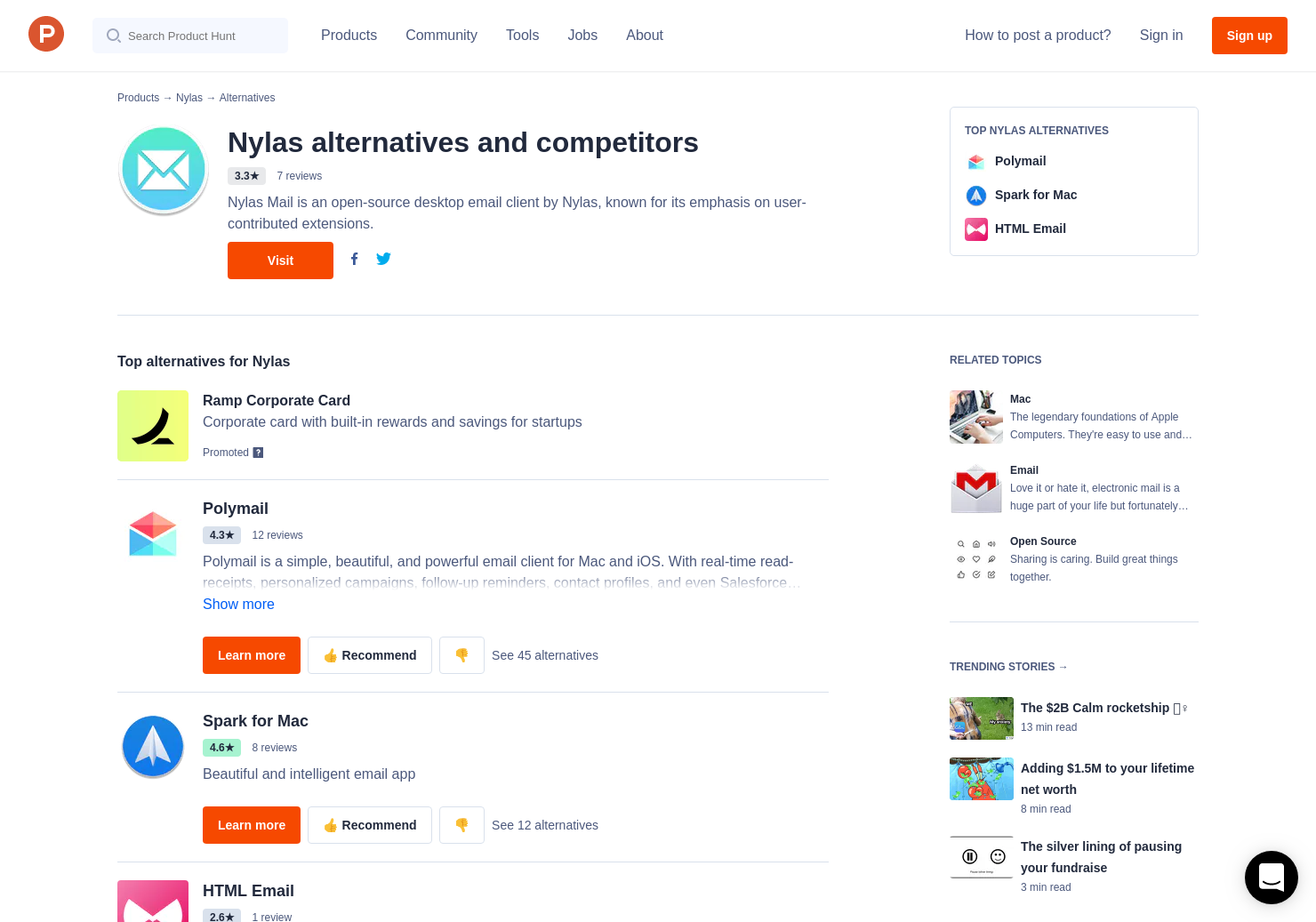 Official ios and android app launched join the hunt now - 5 Alternatives To Nylas Mail 2 0 For Windows Mac Linux Product Hunt