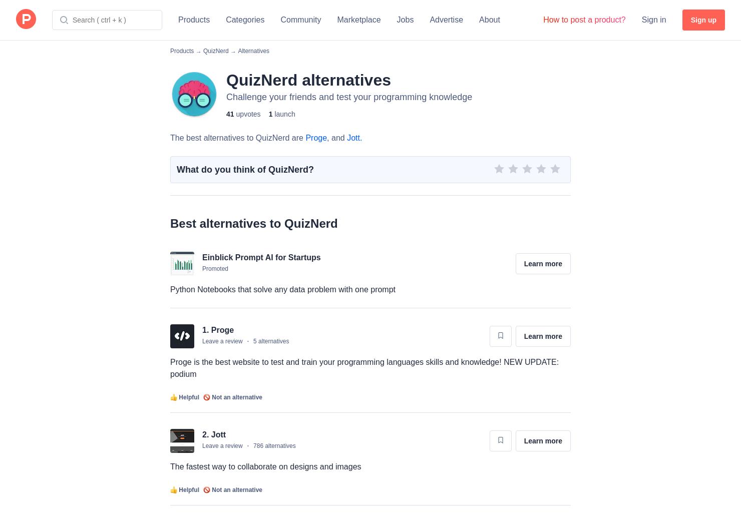 8 Alternatives to QuizNerd | Product Hunt