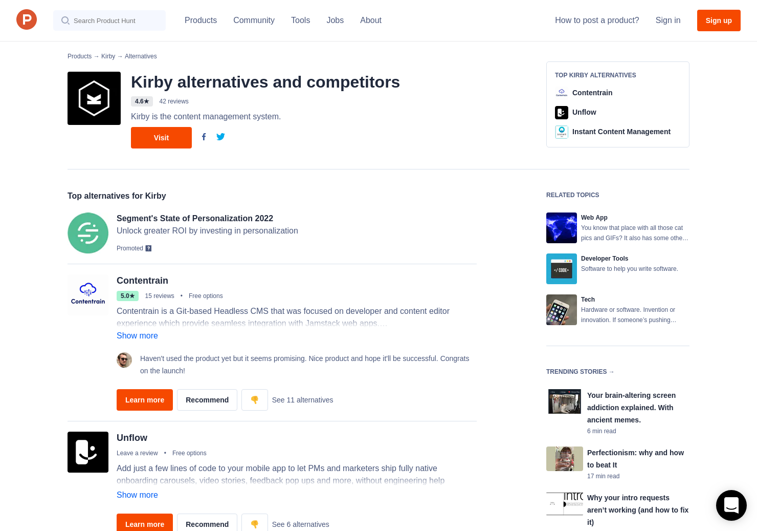 6 Alternatives to Kirby 3 0   Product Hunt