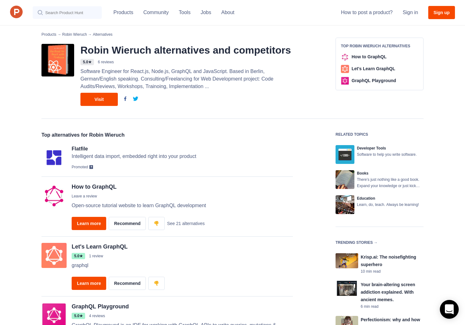 4 Alternatives to The Road to React with Firebase   Product Hunt