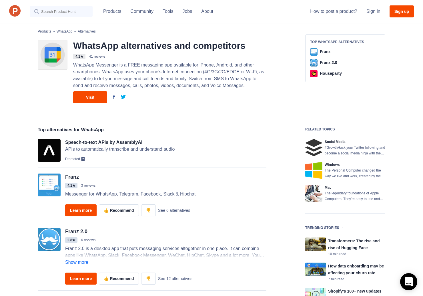13 Alternatives to WhatsApp Desktop for Windows, Mac | Product Hunt