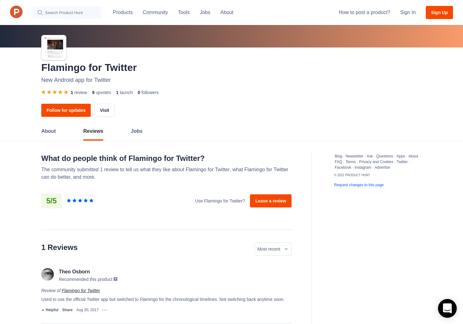 1 Flamingo for Twitter Reviews - Pros, Cons and Rating | Product Hunt