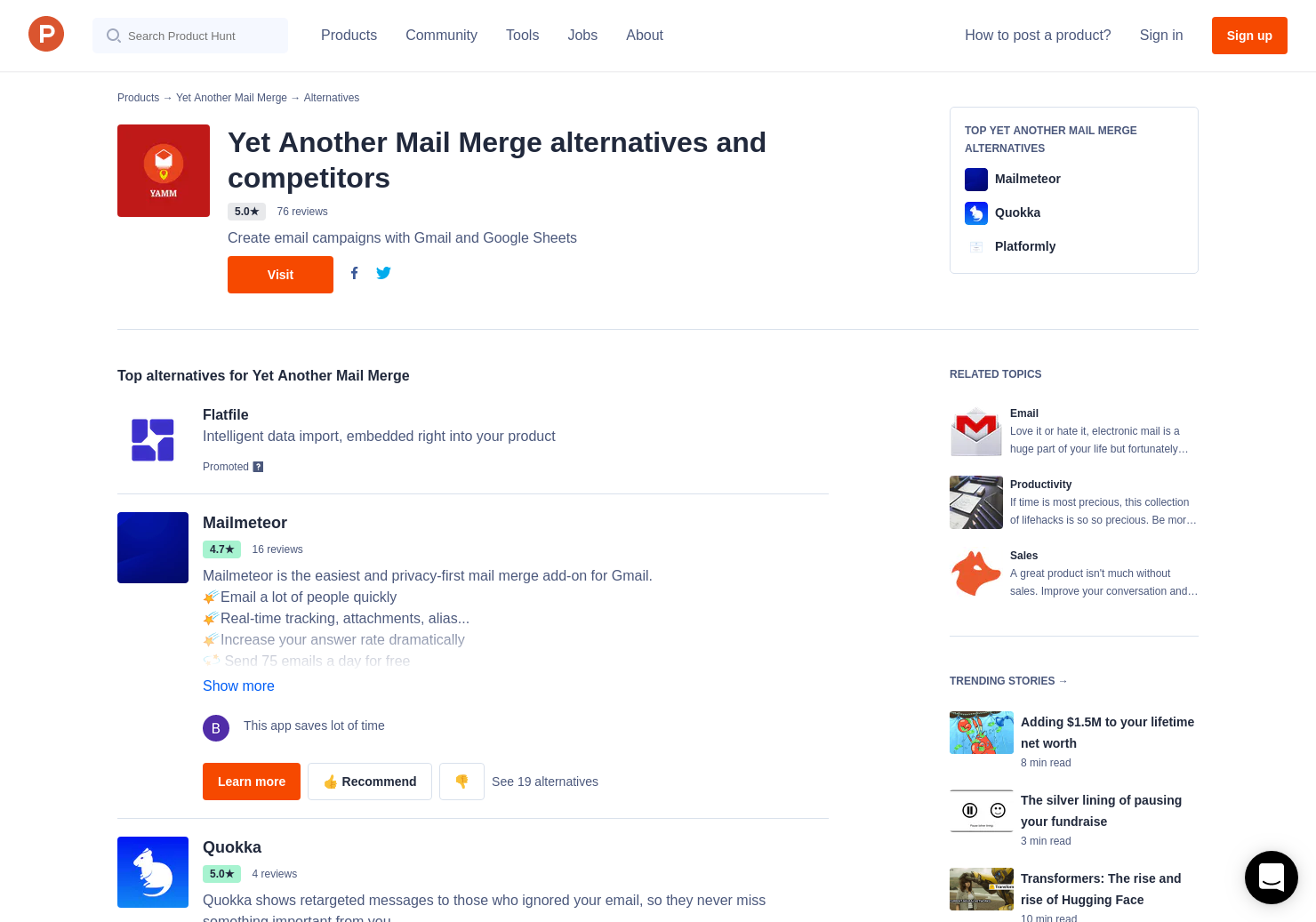 8 Alternatives to Yet Another Mail Merge (YAMM)   Product Hunt
