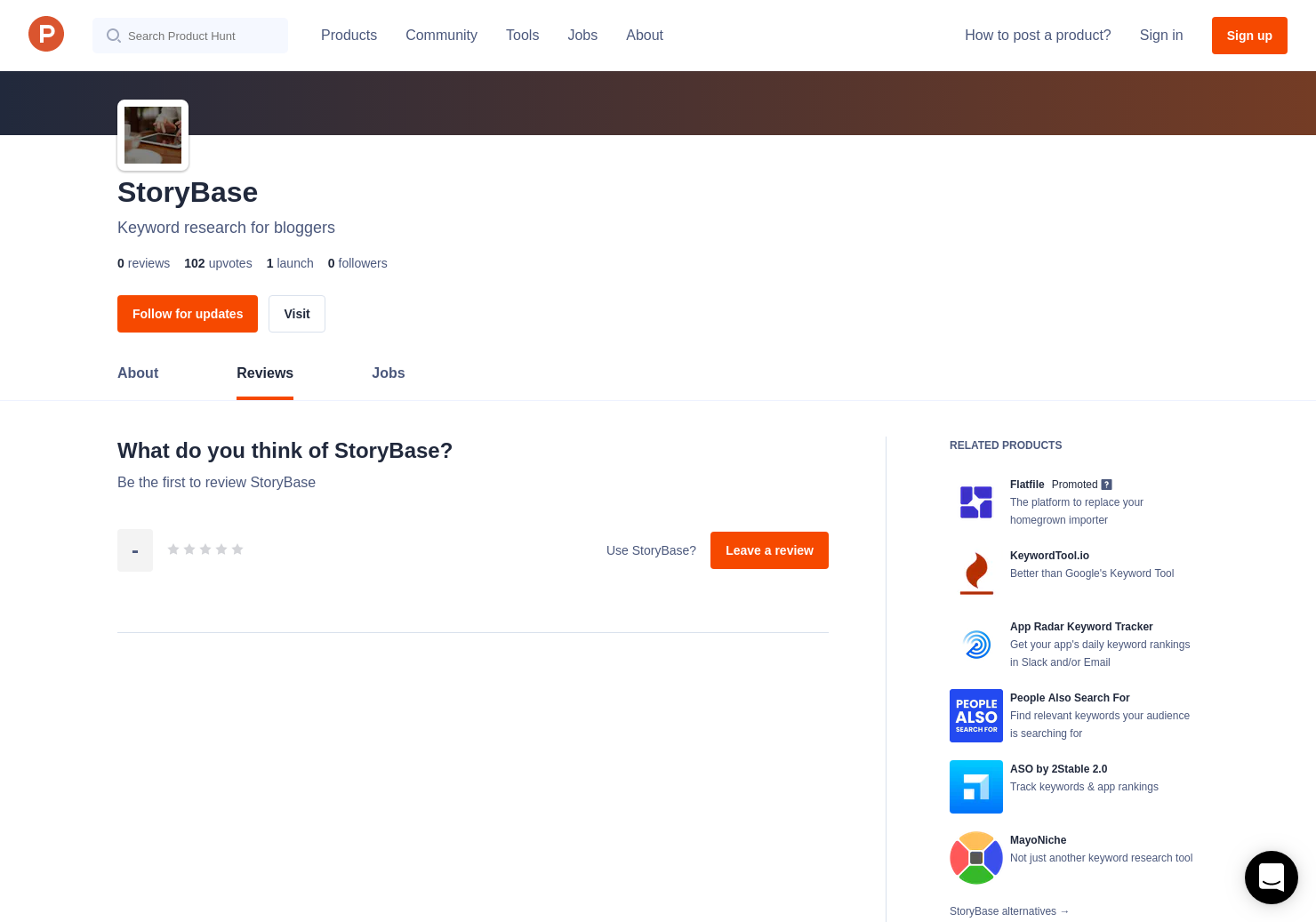 StoryBase Reviews - Pros, Cons and Rating | Product Hunt