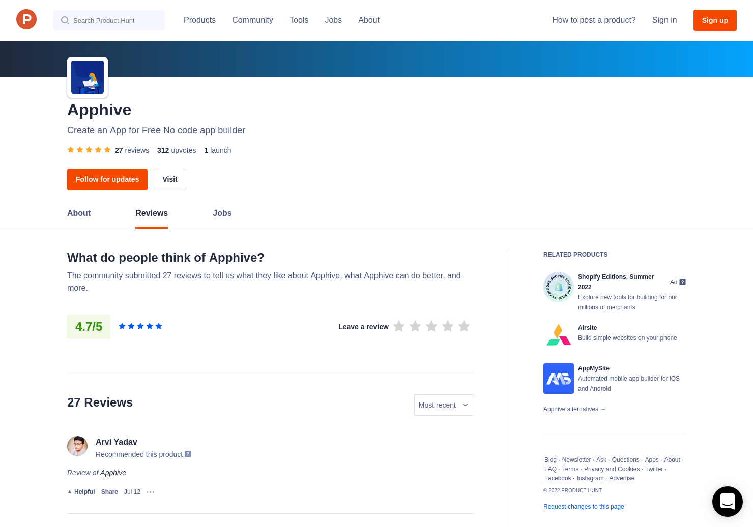25 Apphive Reviews - Pros, Cons and Rating | Product Hunt
