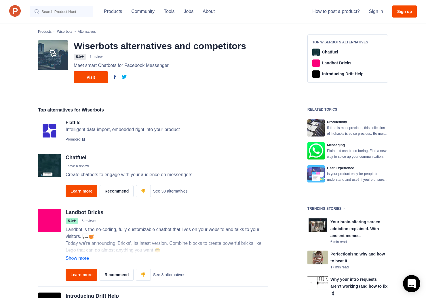 8 Alternatives to Wiserbots   Product Hunt