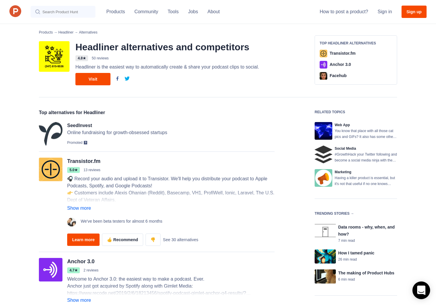 6 Alternatives to Voices by Headliner   Product Hunt