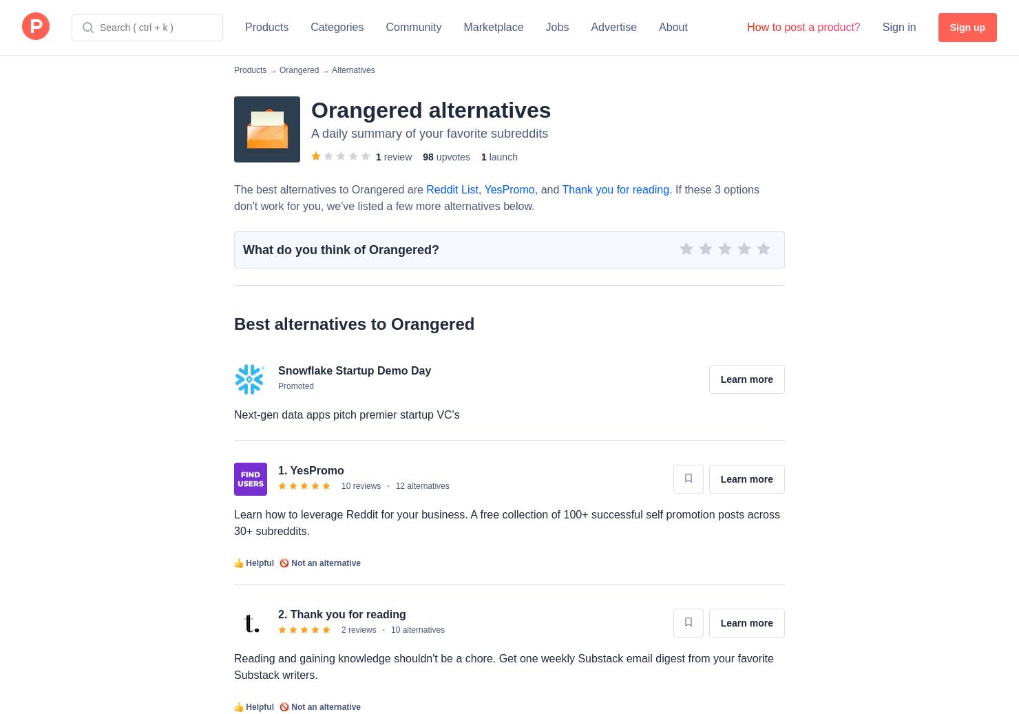 6 Alternatives to Orangered   Product Hunt