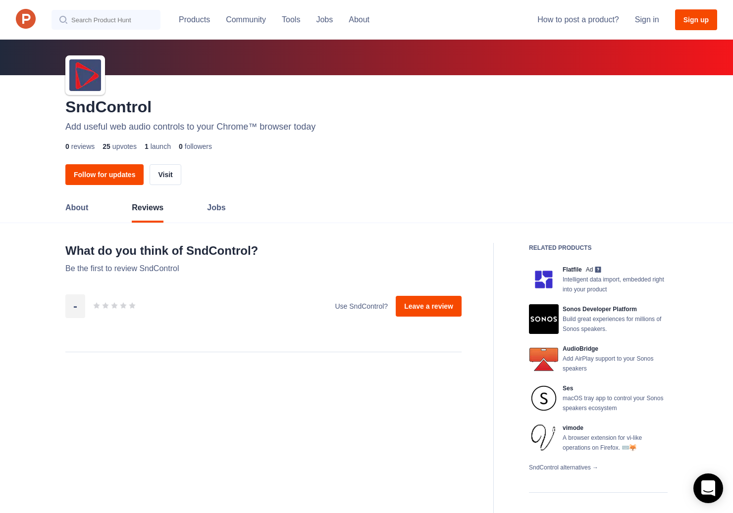 SndControl Reviews - Pros, Cons and Rating | Product Hunt