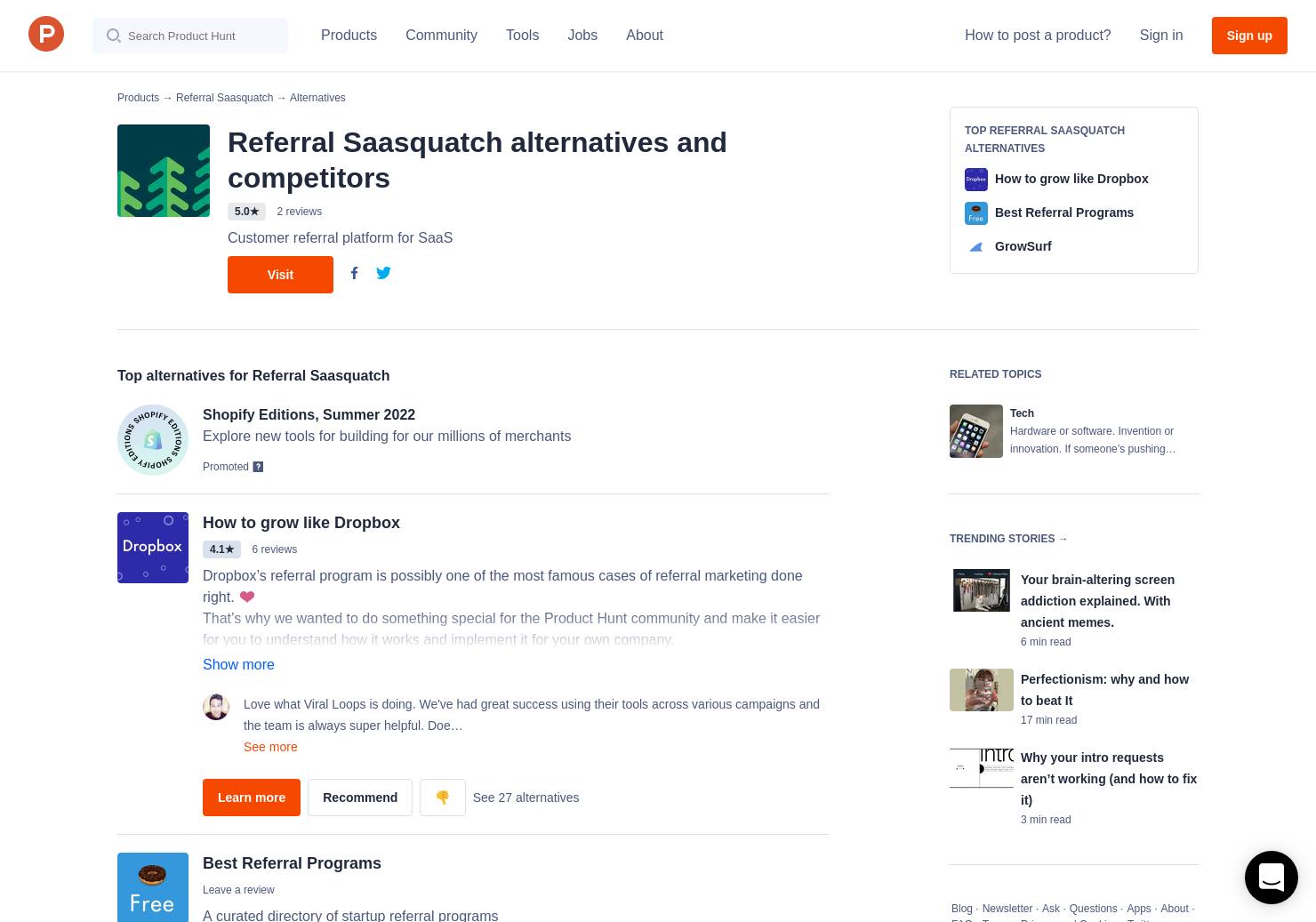 8 Alternatives to Referral Saasquatch | Product Hunt