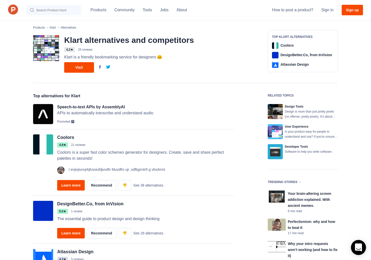 1 Alternatives to Klart for Chrome Extensions   Product Hunt