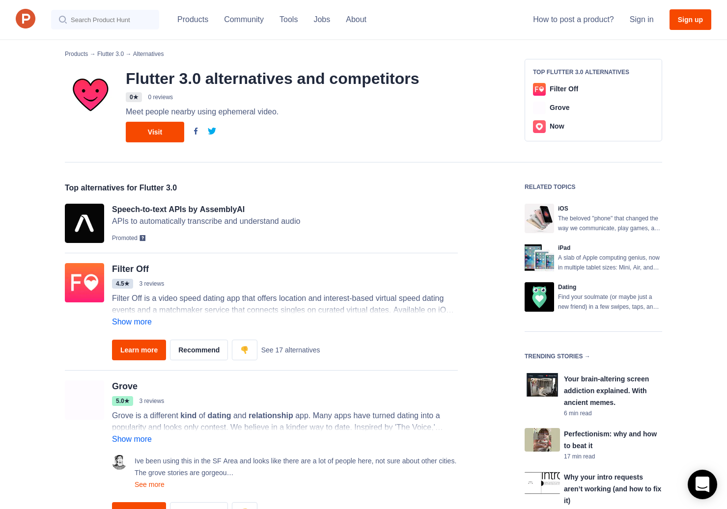 37 Alternatives to Flutter 3 0 for iPhone, iPad | Product Hunt