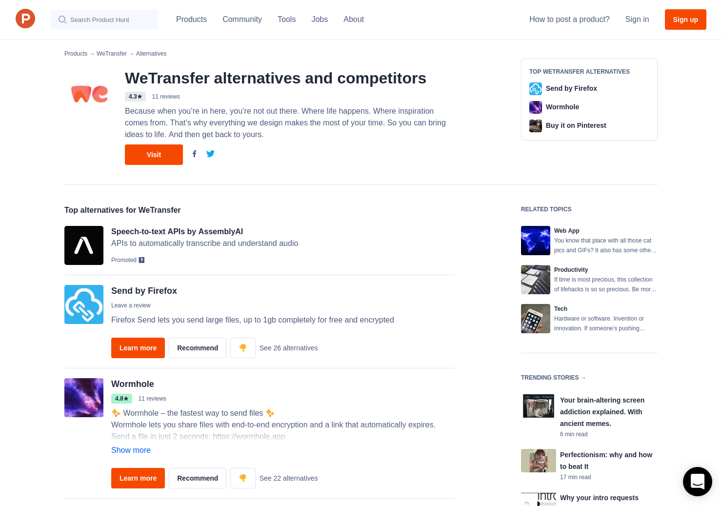 6 Alternatives to WeTransfer for Mac for Mac   Product Hunt