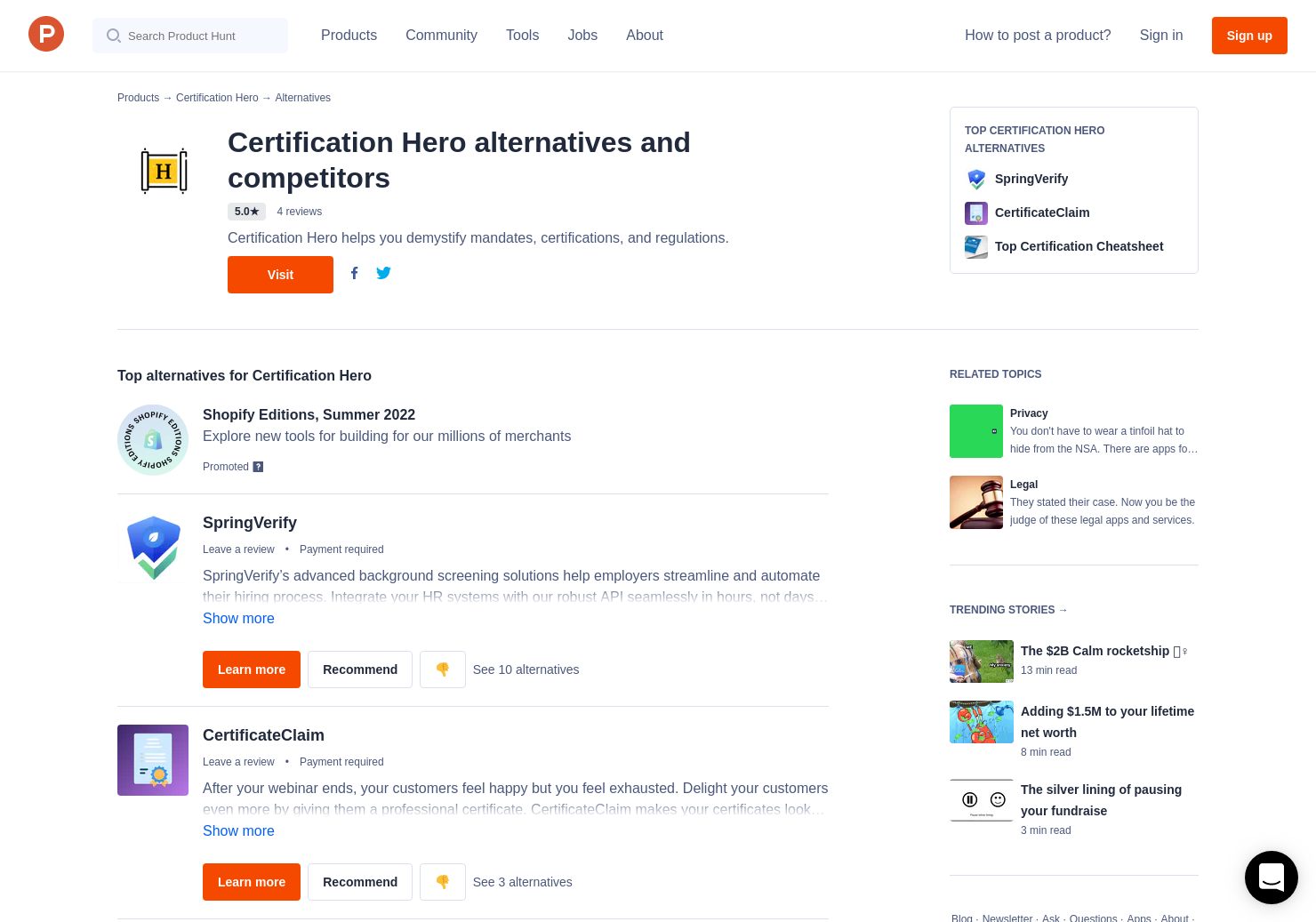 5 Alternatives To Certification Hero Product Hunt
