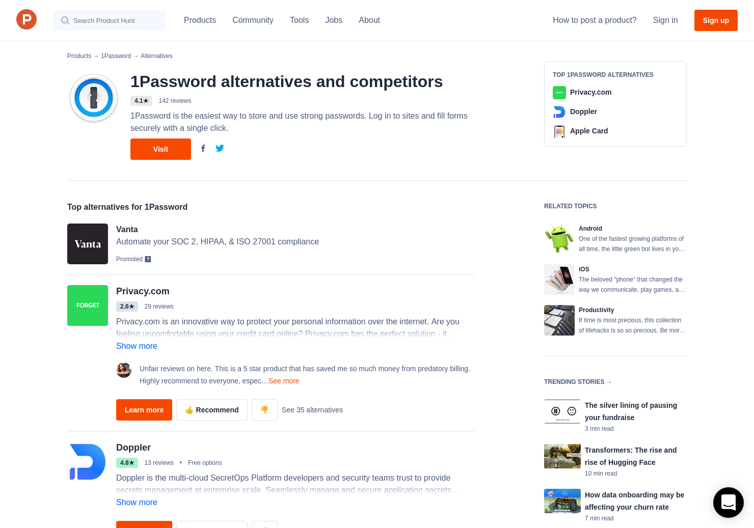 15 Alternatives to 1Password Business | Product Hunt