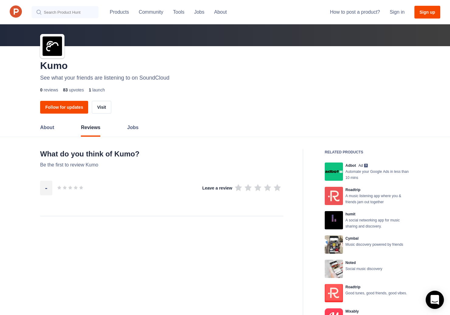 Kumo Reviews - Pros, Cons and Rating   Product Hunt