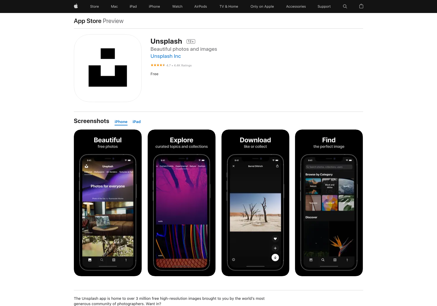 Unsplash for iOS 2.0