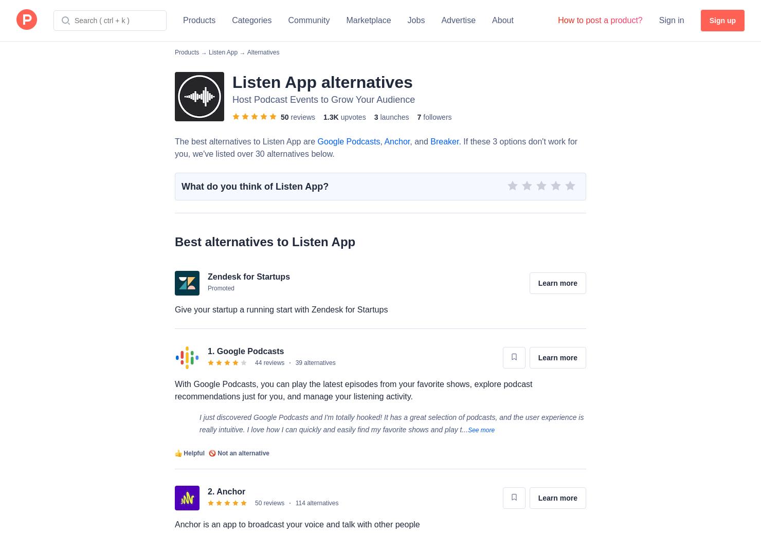 7 Alternatives to Listen App   Product Hunt