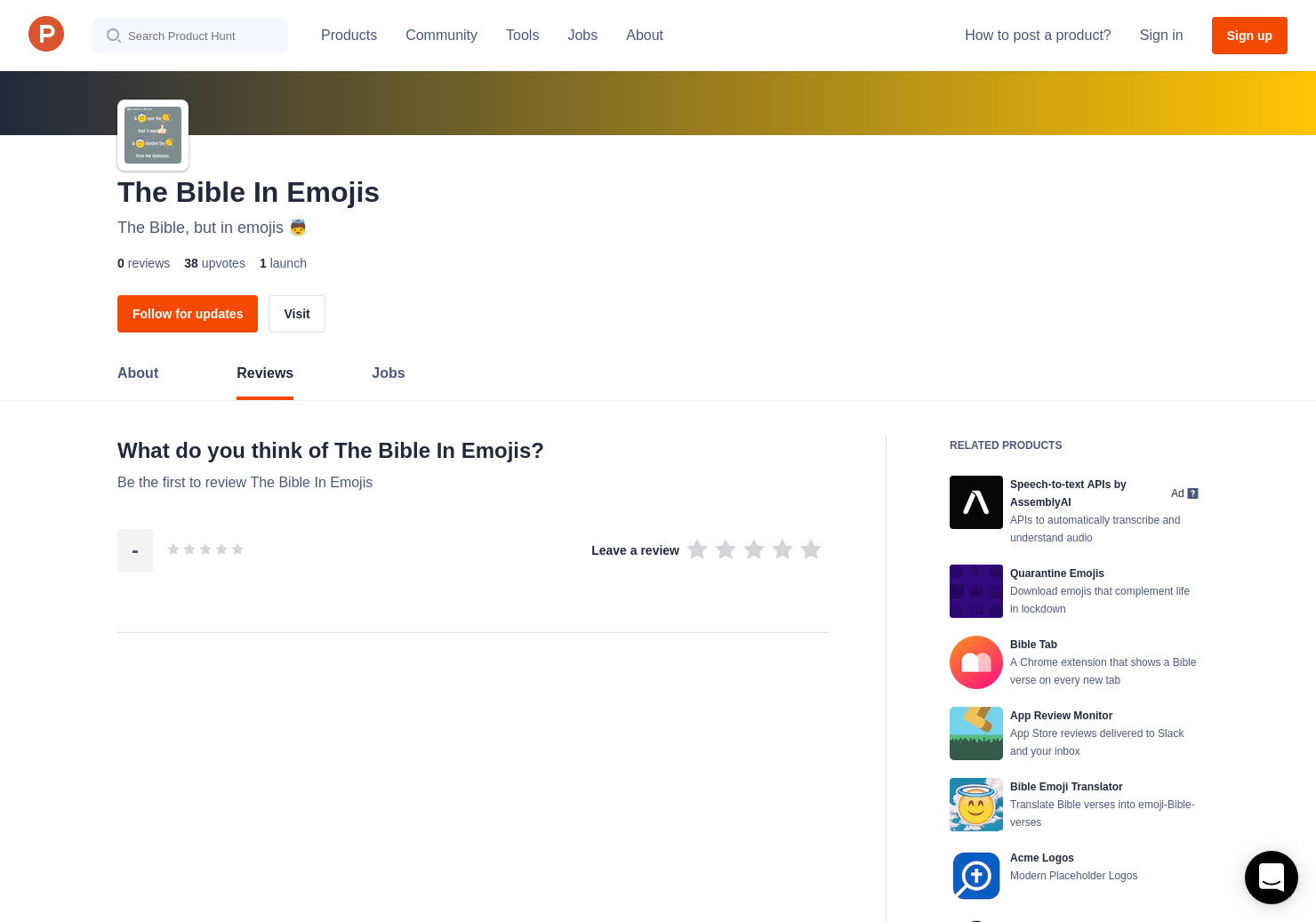 The Bible In Emojis Reviews - Pros, Cons and Rating | Product Hunt