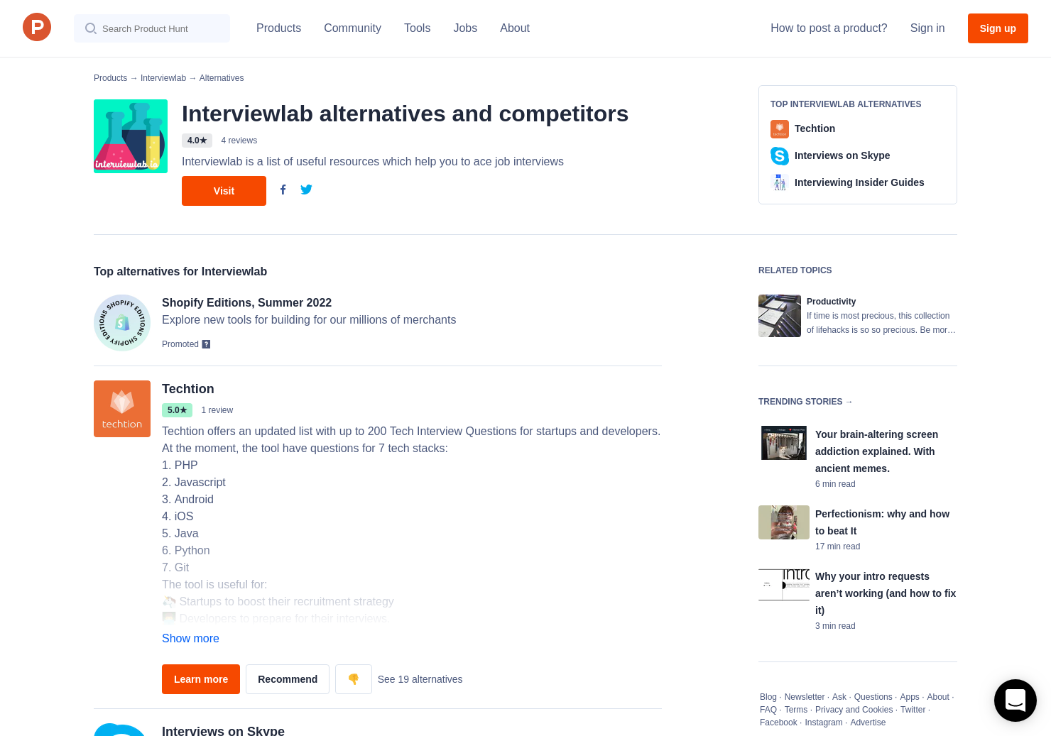 19 Alternatives to Interviewlab | Product Hunt