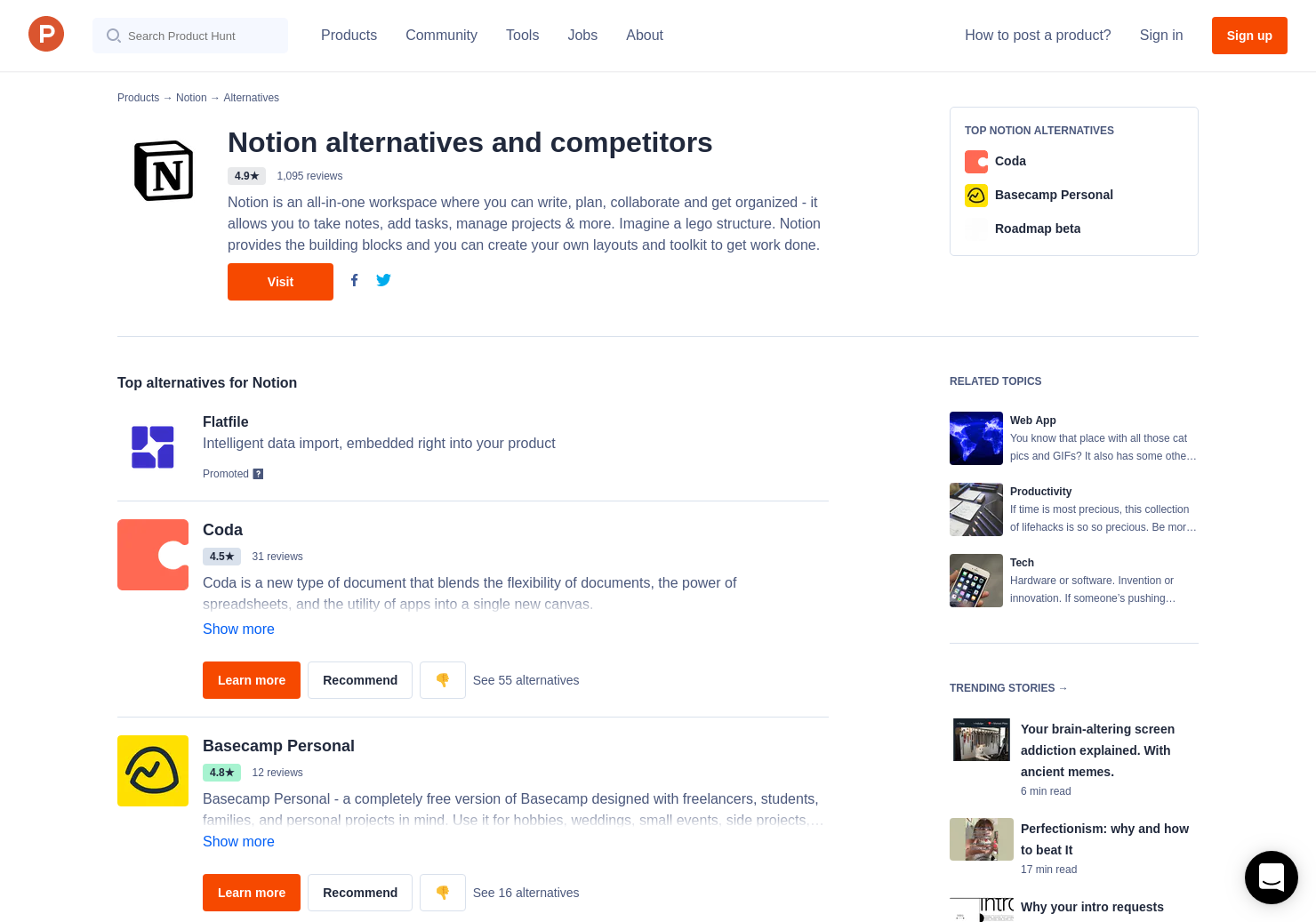 17 Alternatives to Notion for iOS for iPhone | Product Hunt
