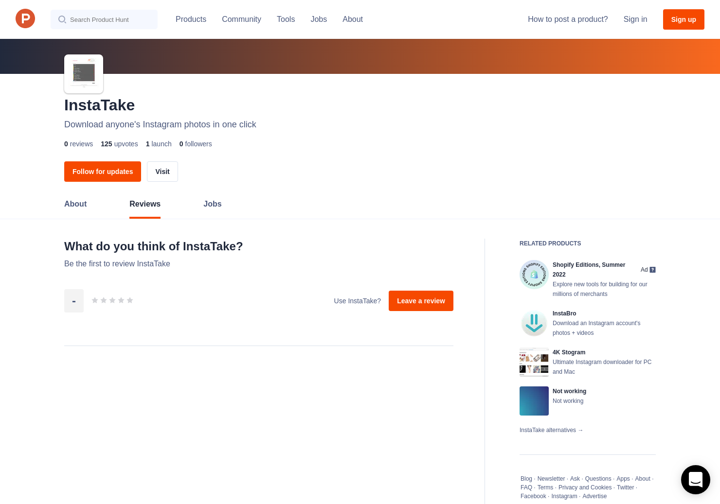 InstaTake Reviews - Pros, Cons and Rating | Product Hunt