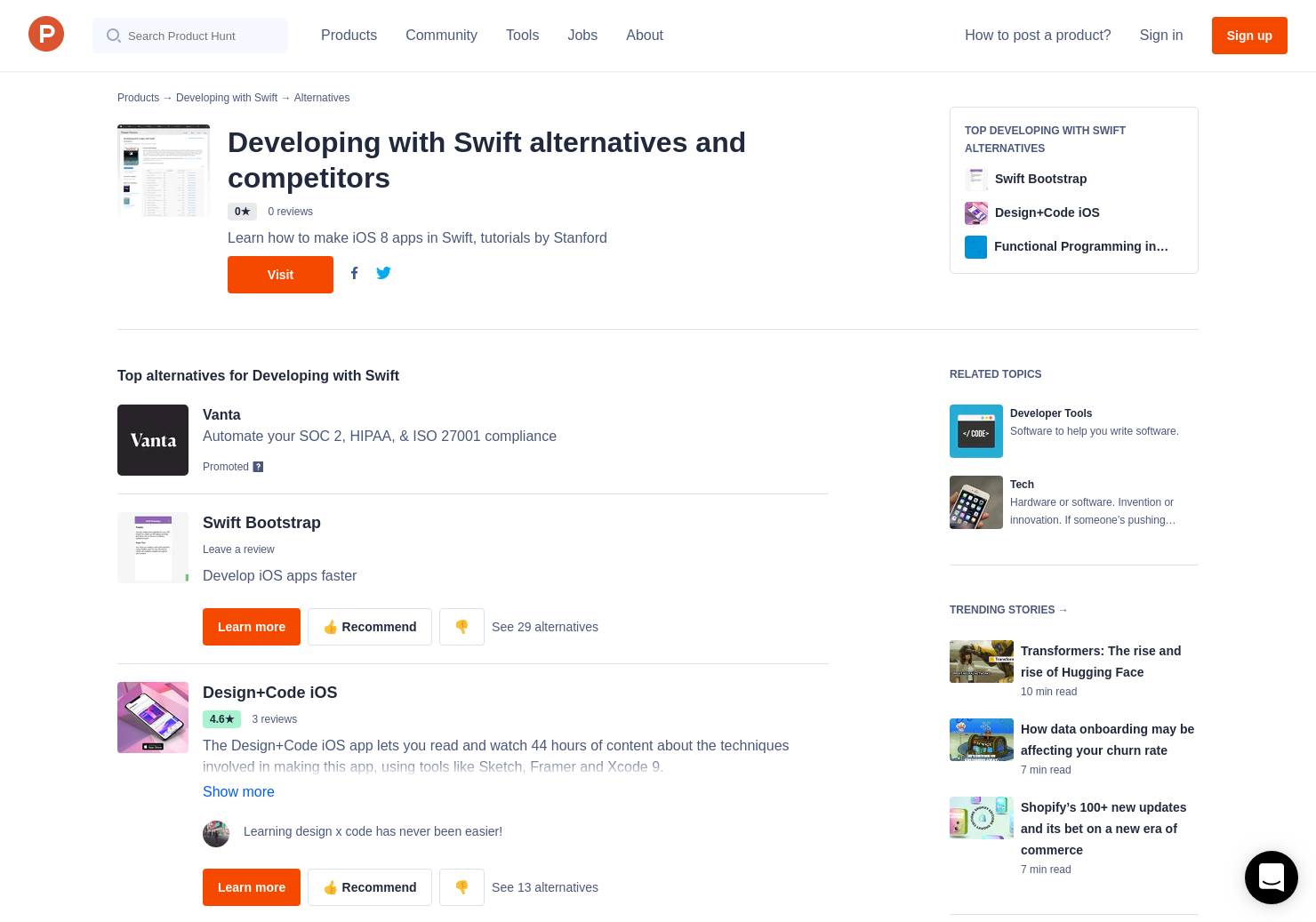 6 Alternatives to Developing with Swift | Product Hunt