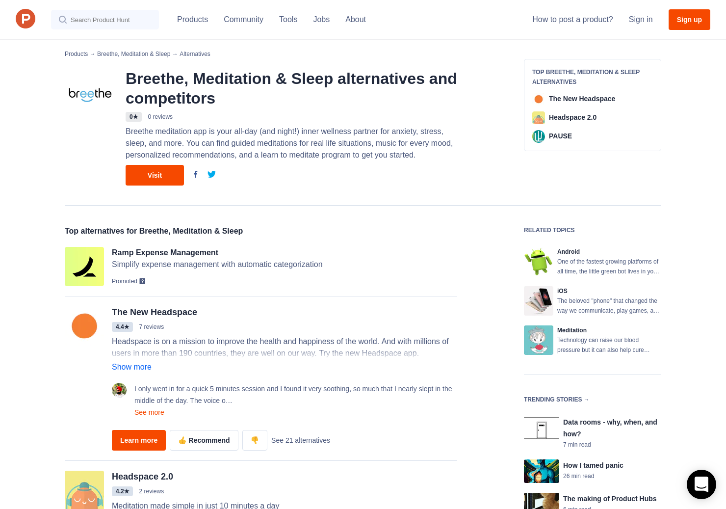 16 Alternatives to Breethe for Android, iPhone | Product Hunt