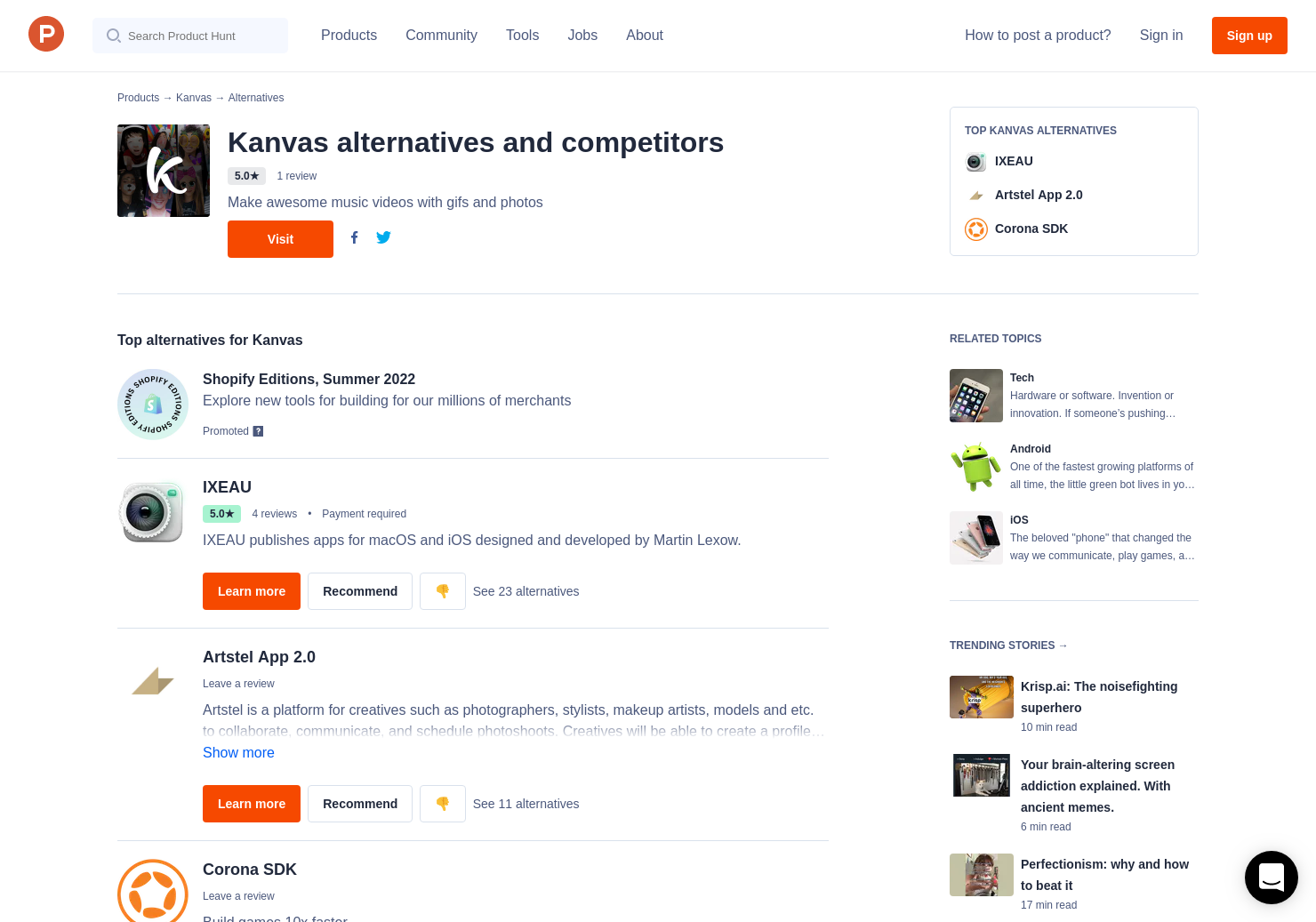 3 Alternatives to Kanvas | Product Hunt