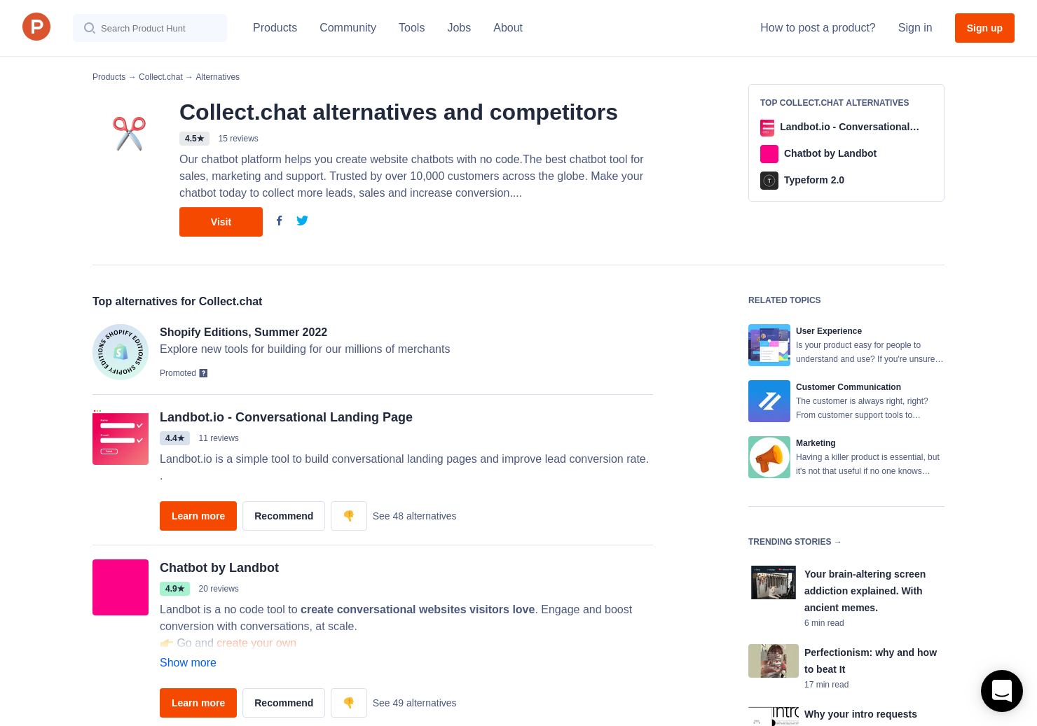 17 Alternatives to Chatbot Templates | Product Hunt