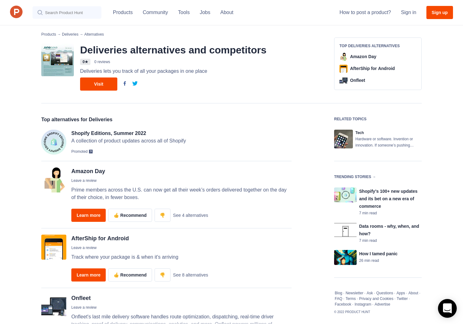 10 Alternatives to Deliveries | Product Hunt