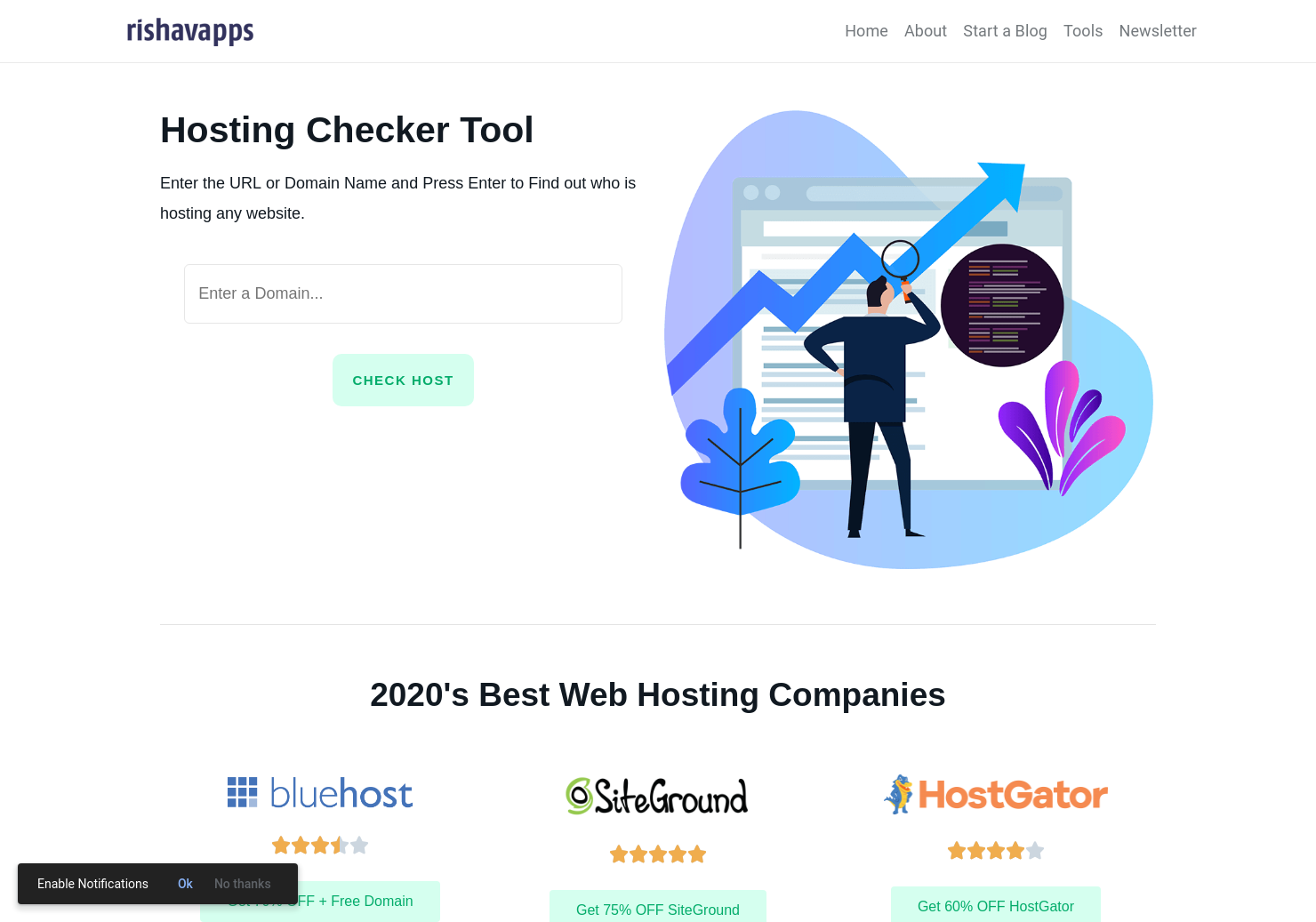 Hosting Checker