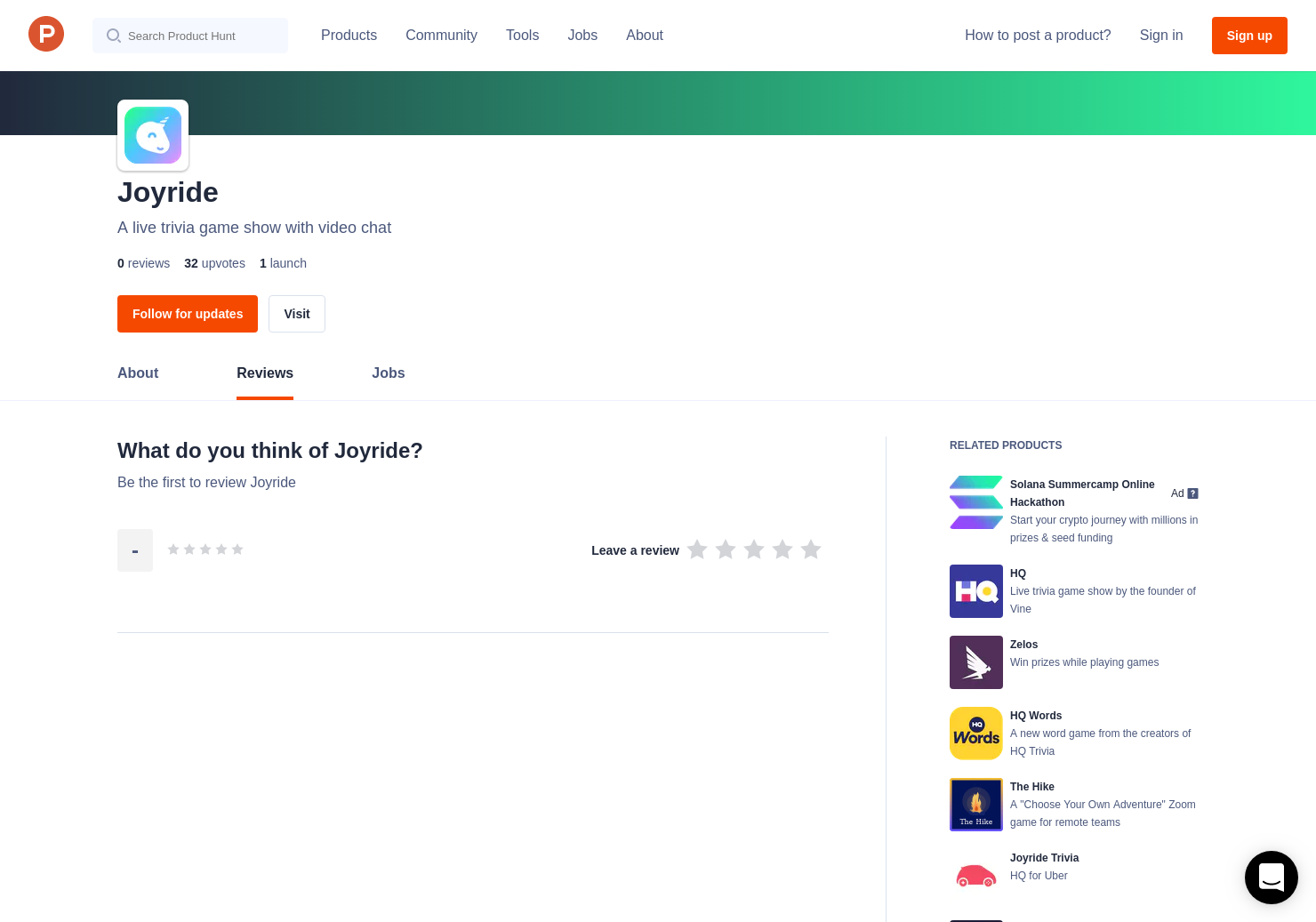 Joyride Reviews - Pros, Cons and Rating | Product Hunt