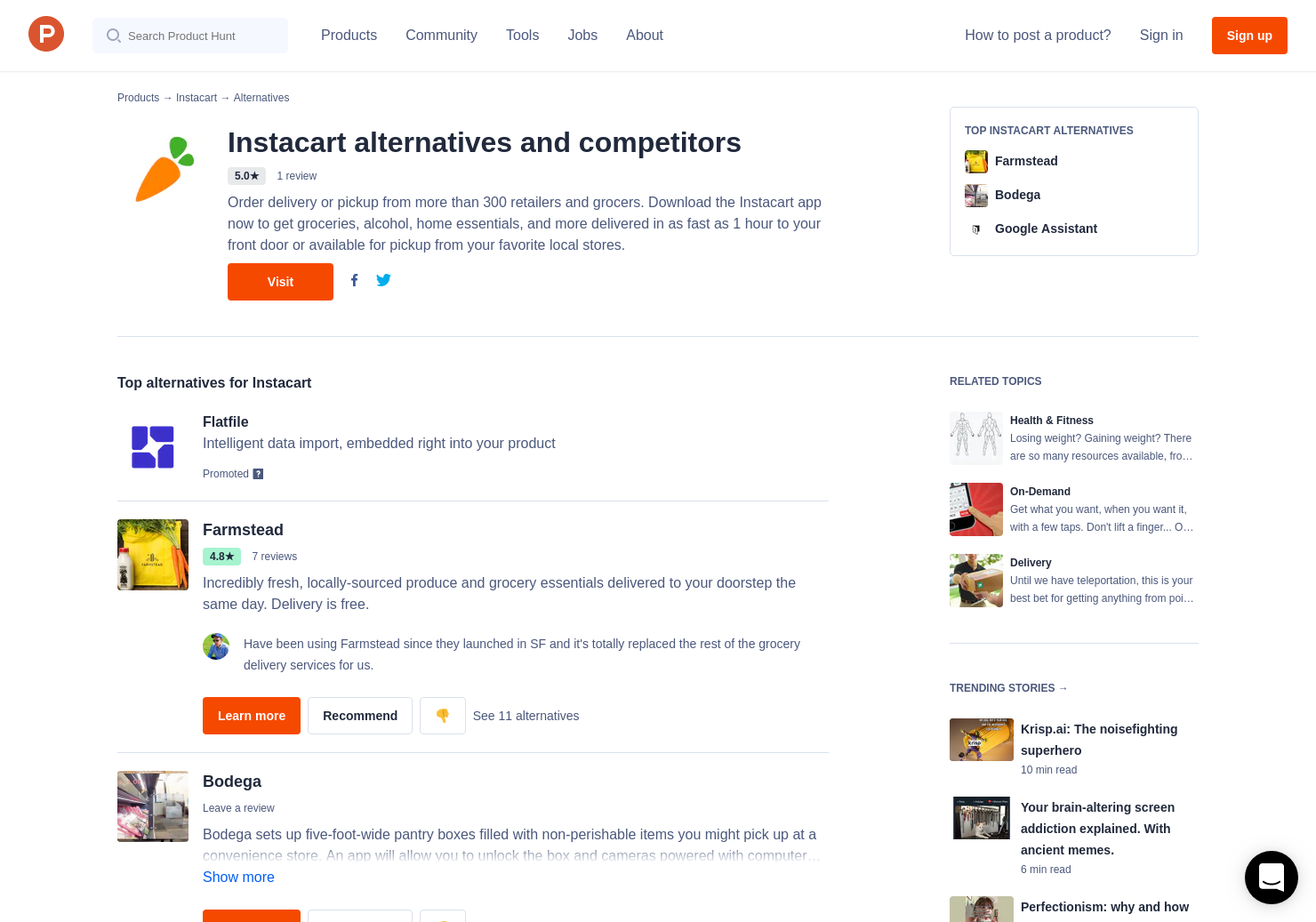 6 Alternatives to Instacart | Product Hunt