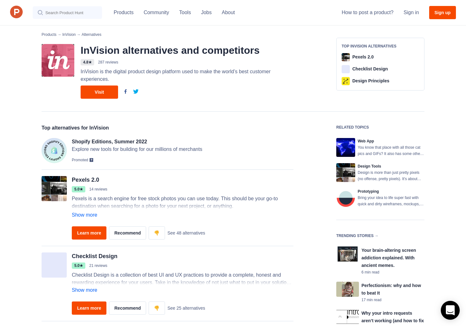 28 Alternatives to InVision Design System Manager | Product Hunt