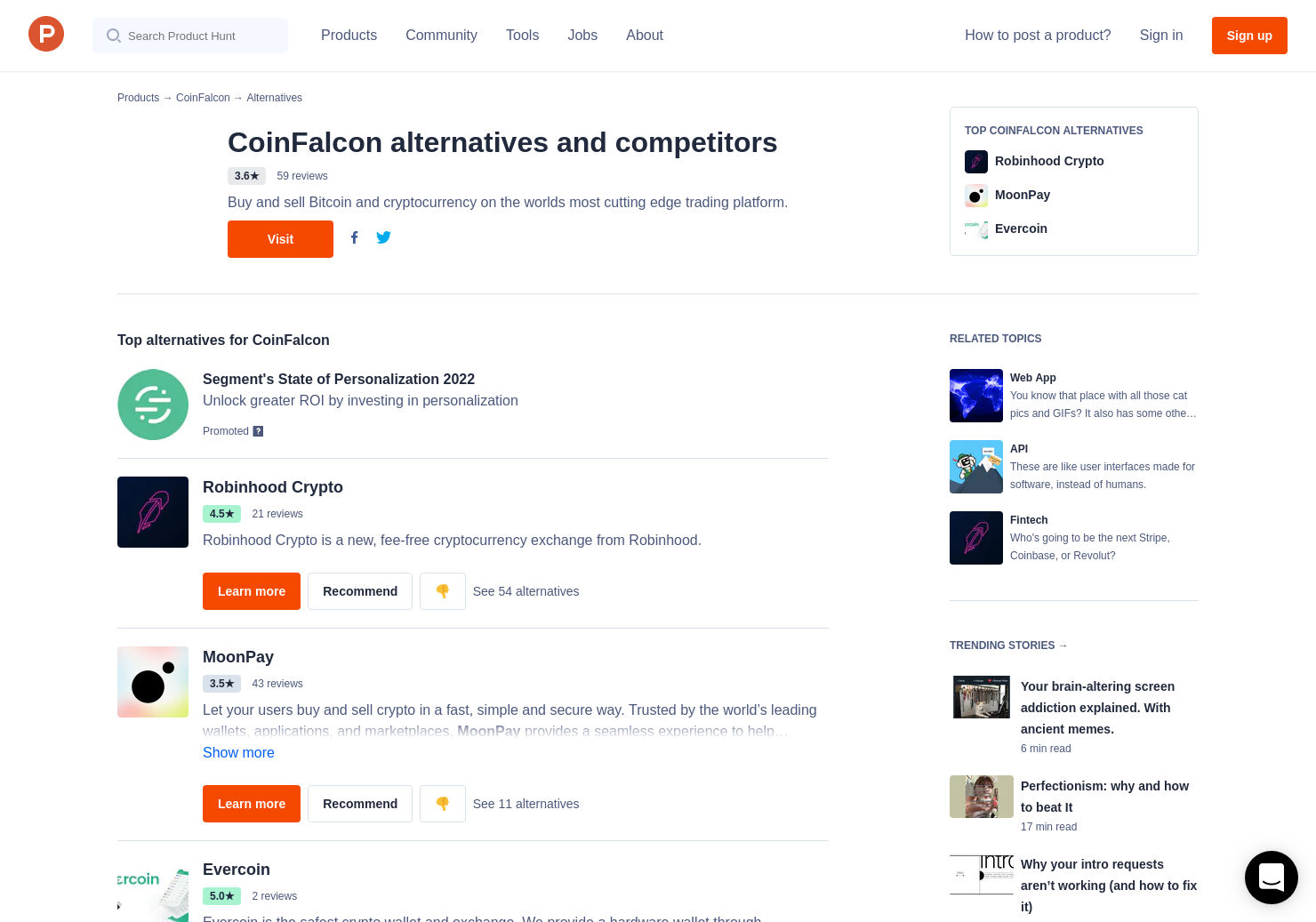 16 Alternatives to CoinFalcon | Product Hunt