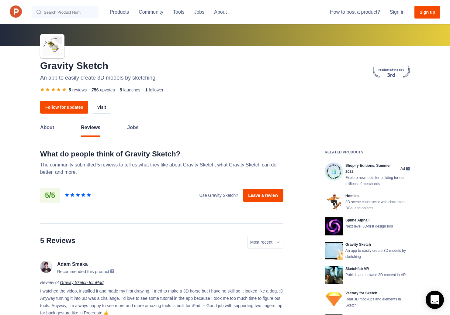 Gravity Sketch Reviews - Pros, Cons and Rating   Product Hunt
