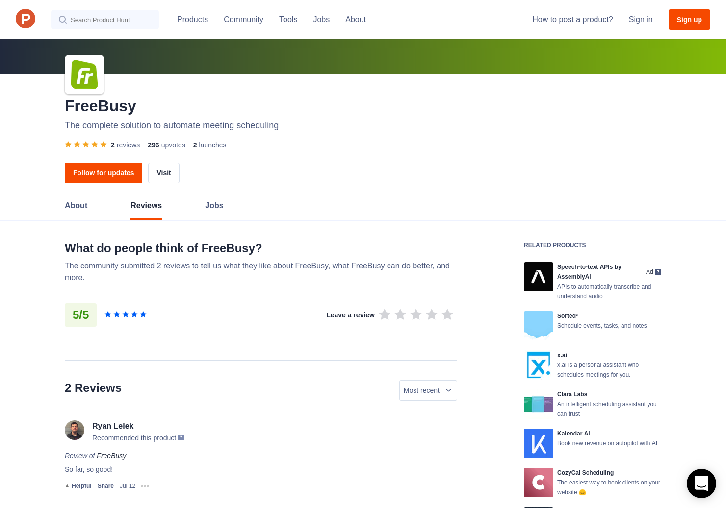 FreeBusy Scheduling Assistant Reviews - Pros, Cons and
