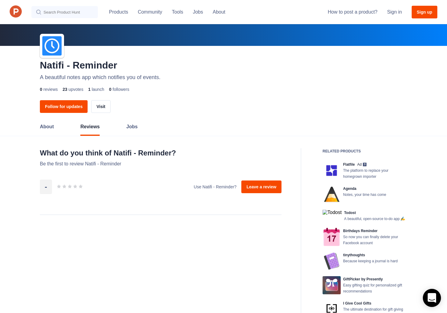 Natifi - Reminder Reviews - Pros, Cons and Rating | Product Hunt