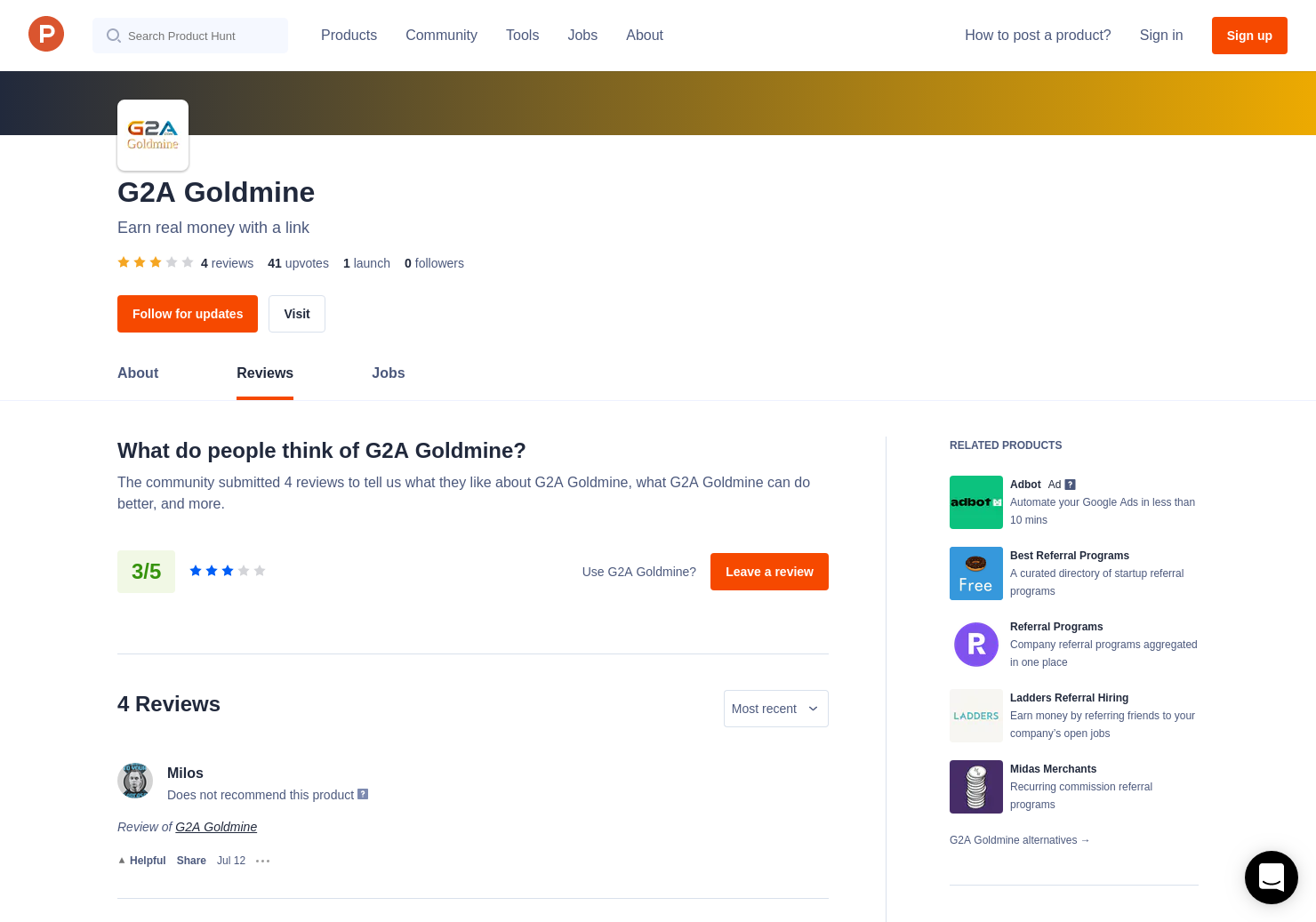 4 G2A Goldmine Reviews - Pros, Cons and Rating   Product Hunt