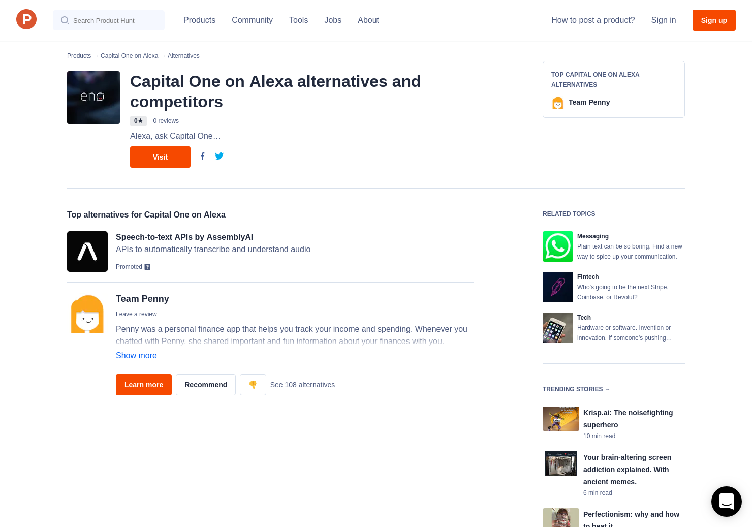1 Alternatives to Eno by Capital One | Product Hunt