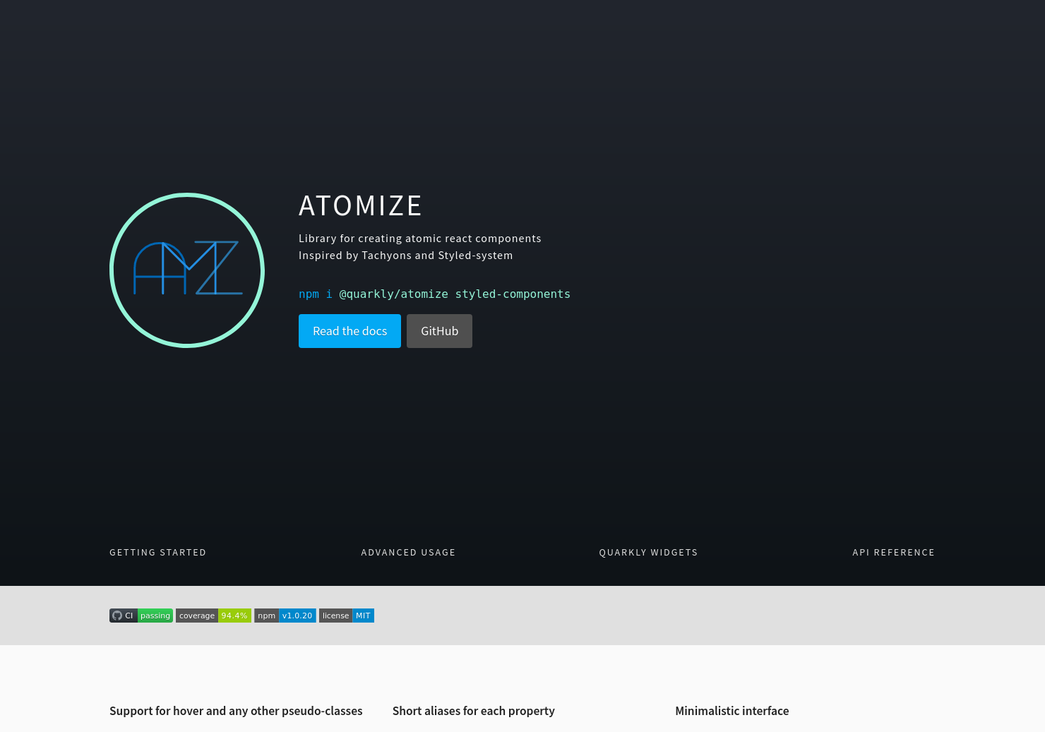Atomize by Quarkly