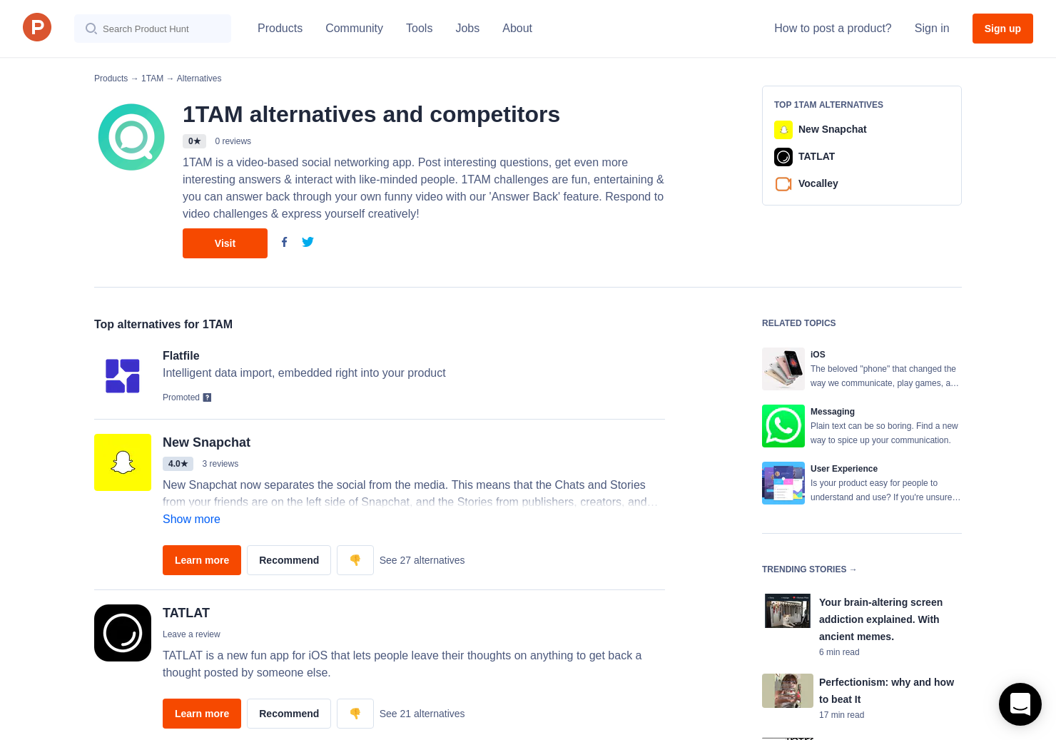 6 Alternatives to 1TAM for iPhone | Product Hunt