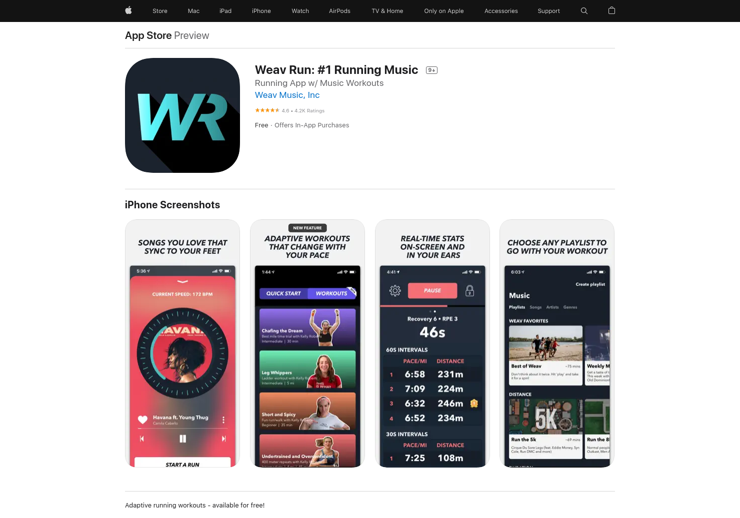 Running Workouts by Weav Music