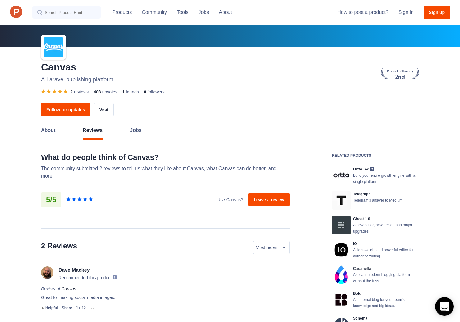 2 Canvas Reviews - Pros, Cons and Rating | Product Hunt