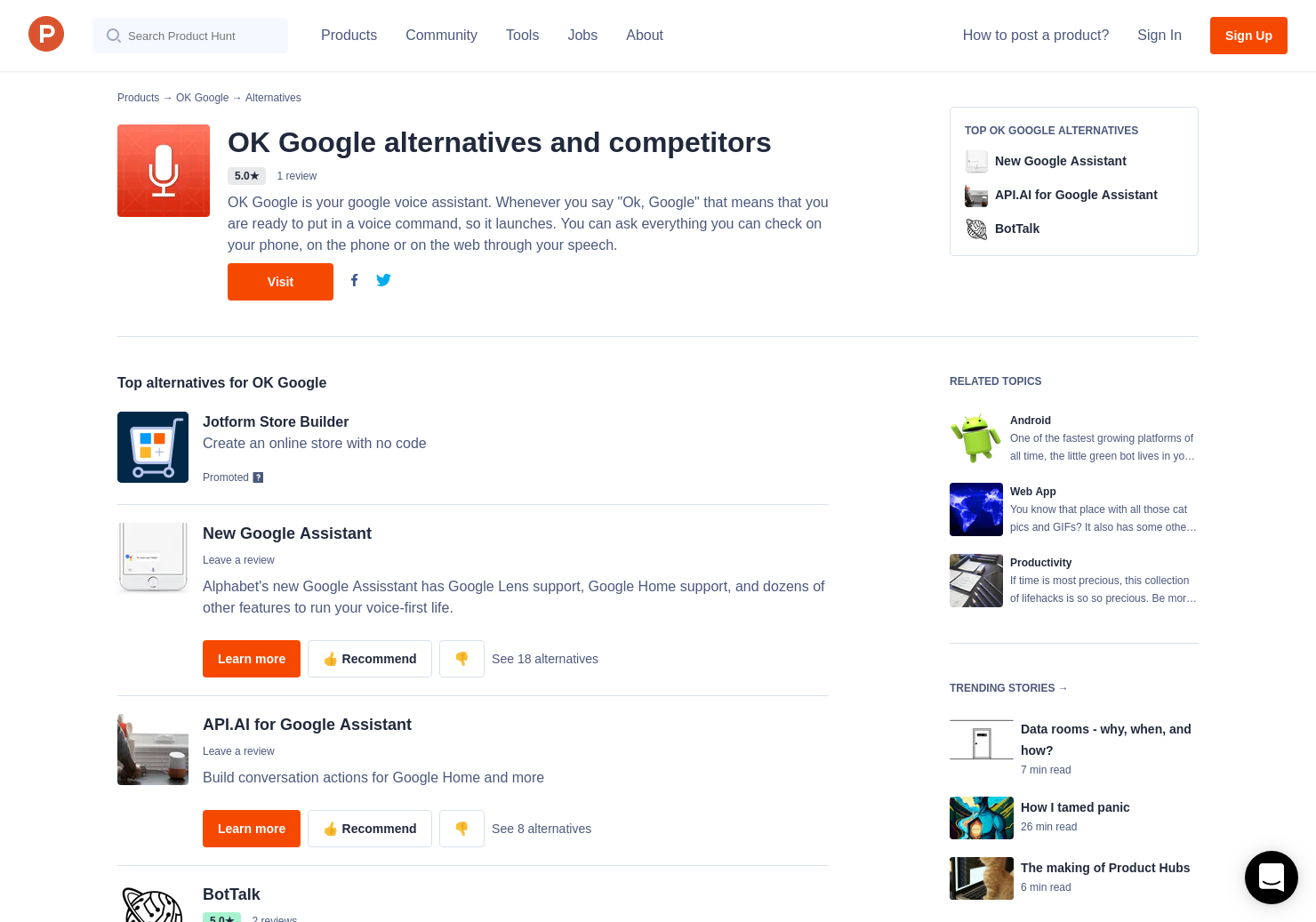 11 Alternatives to OK Google for Android | Product Hunt