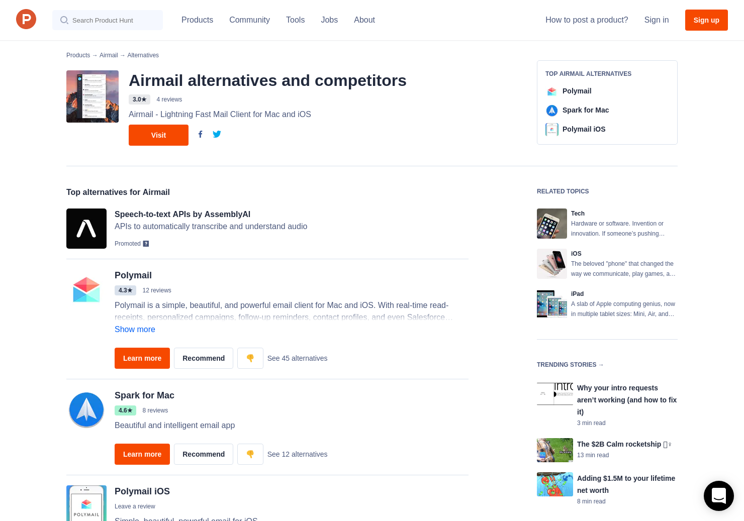 12 Alternatives to Airmail for iOS for iPhone, iPad