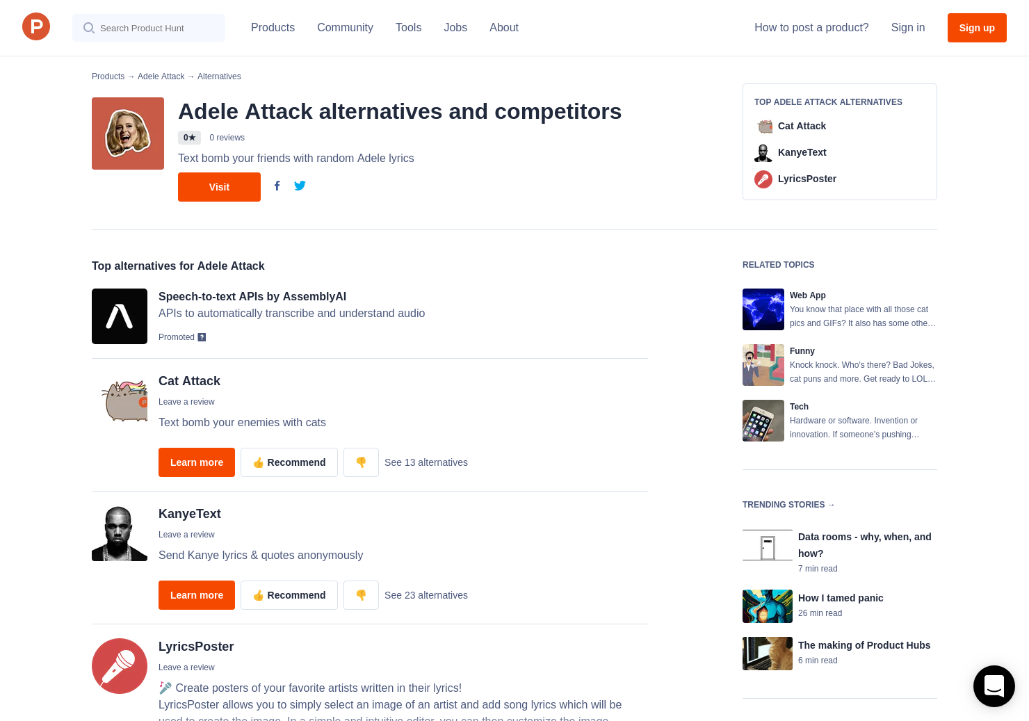 16 Alternatives to Adele Attack | Product Hunt