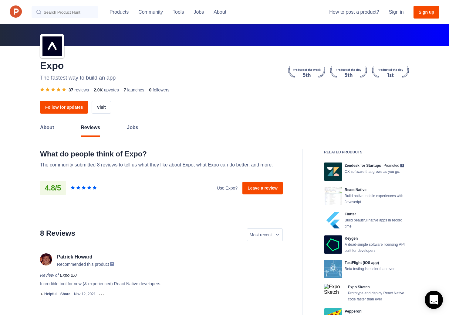 34 Expo 2 0 Reviews - Pros, Cons and Rating | Product Hunt