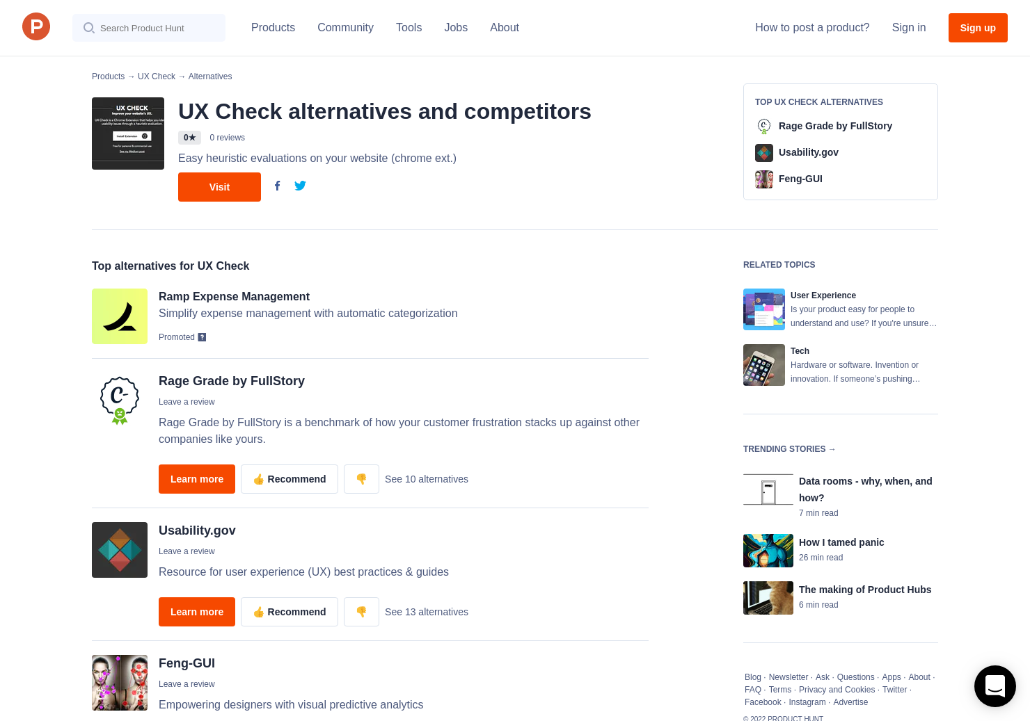 4 Alternatives to UX Check | Product Hunt